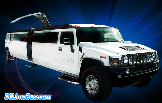 DC Hummer Limo with Gullwing Doors.